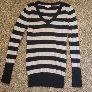 Vneck Striped sweater